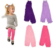 Ruffle 4 pack girls baby and toddler leg warmers by juDanzy