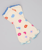Children's Baby Leg Warmers (Ruffle White & Multi Floral) Colour