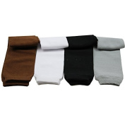 juDanzy Neutral Solid 4-pack leg warmers in neutral colours for babies, toddler, child