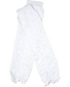 White Ruffle baby leg warmers by juDanzy for girls, toddler, child, One Size Colour
