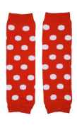 juDanzy Newborn Small Baby Leg Warmers (Newborn-6.8kg) (Red with white Dots) Colour