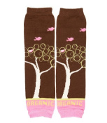 Organic leg warmers for baby & toddler girls by juDanzy (Organic Fly Away Bird) Colour