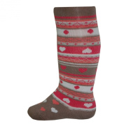Socks & More - Baby tights for girls, brown