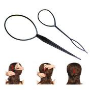 INHBOX New 2PCS Topsy Tail Hair Braid Ponytail Maker Styling Tool
