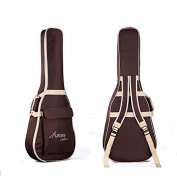ParaCity Folk Acoustic Guitar Gig Bag Case PU Padded Waterproof for 39 40 100cm