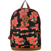 Eleoption Womens Large Floral Print Backpack