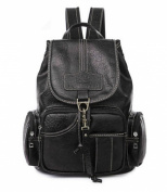 Teenager Girls Retro Style PVC Leisure Rucksack fashion Clamshell School Bag