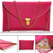 sf-world New Women Envelope Clutch Evening Shoulder Handbag with Gold Chain