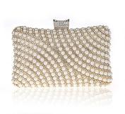 Shining Seed/Bead Faux Pearl Diamante Rhinestone Clutch HandBag 7260