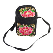 Meta-U Handmade Flower Embroidery Canvas Camera Bag Cross body Handbag