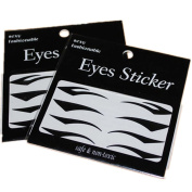 4 pairs Temporary Eye Tattoo Transfer Eyeshadow Eyeliner Stickers Fancy Xmas New
