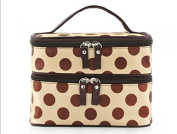 Liroyal Cosmetic Dot bag Case Bag Makeup Purse Polka Dot cosmetic storage box storage bags cases