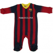 F.C. Barcelona Sleepsuit 6/9 mths- baby sleepsuit- to fit 6 / 9 months (74cm)- main