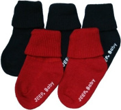 Jeep Baby 5 Pack Socks Navy Blue & Red 6-12 Months