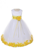 21 Colours Satin Bodice Communion Flower Girl Pageant Petal Dress
