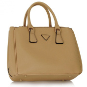 Womens Designer Faux Leather Celebrity Style Stylish Evening Tote Handbag