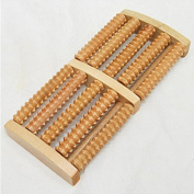 JETTINGBUY 5 Raw Wooden Roller Massager Foot Relief Health Therapy Relax