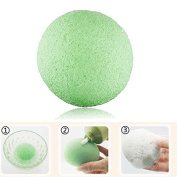 Natural Konjac Facial Puff Face Wash Cleansing Sponge Green High Quality