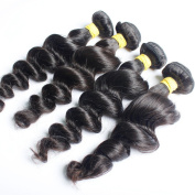 Pretty Maxglam Hair 3pcs lot Brazilian Virgin Hair Brazilian Loose Wave with Beautiful lustre full and thick Human Hair Extensions