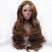 Kuafu Fashion Long Wavy Synthetic Lace Front Wig Cosplay Wigs