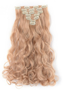 OneDor 50cm Curly Full Head kanekalon Futura Hair Extensions Clip On/in Hairpieces 7pcs 140g