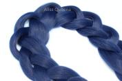 Aliss Queena(TM)3Pcs/Lot Premium Xpression Ultra Braid Hair 210cm 165G Blue Colours Braiding Hair Extension Valid In Stock