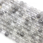 Natural Colour Genuine Cloudy Quartz Round 6mm Gemstone Loose Beads Jewellery Findings