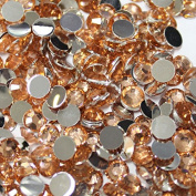2000 Pcs 3mm 14 Facets Resin Round Rhinestone Flat Back Bling Shine Champagne Colour 07