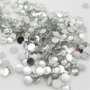 2000 Pcs 3mm 14 Facets Resin Round Rhinestone Flat Back Bling Shine Clear Crystal 01