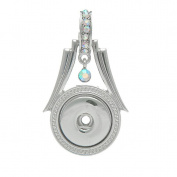 Godagoda Silver Tone Colour Charm Pendant With Rhinestone Fits Snap Buttons