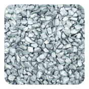 Sandtastik Preschool Kids Children Craft Coloured ICE Real Glass Gems, Scatters 10 lb (4.5 kg) Box; 1.5 - 4 mm - Silver