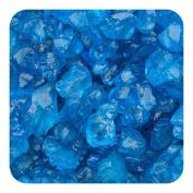 Sandtastik Preschool Kids Children Craft Coloured ICE Real Glass Gems, Scatters 10 lb (4.5 kg) Box; 4 - 10 mm - Blue
