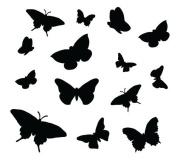 Little Flutter Bys Pattern Stencil - 12