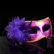Nanier Mistery Luxury Mysterious Pretty Lady Glitter Mask, Women's Gorgeous Venetian Masquerade Mask