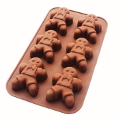 X-Haibei Happy Gingerbread Man Soap Chocolate CupCake Muffin Siliocne Mould Christmas Gift