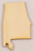 CMAL Alabama State Cutout Size:Medium 30cm x 17cm Sold Individually Thickness:0.6cm Baltic Birch Plywood