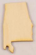 CMAL Alabama State Cutout Size:Medium 30cm x 17cm Sold Individually Thickness:0.6cm Baltic Birch Plywood
