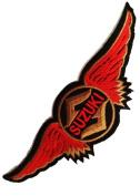 Suzuki Logo Motorcycles Patch '' 13 x 4,5 cm'' - Embroidered Iron On Patches Sew On Patches Embroidery Applikations Applique