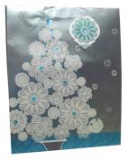 Holiday Merry Christmas Glitter Christmas Tree Gift Bag 33cm x 26cm x 5.1590cm