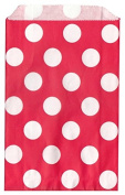 Polka Dot RED Food Treat & Favour Paper Bags 24Pk 5X7 - Twilight Parties