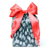 Eco Friendly + Reusable Stretchy Fabric Gift Wrap - Pink Bokeh