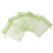 25Pcs 7X9cm Grass Green Gift Bag.