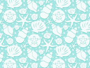 Seashore Shell Beach Wedding Gift Wrap - 4.9m Roll