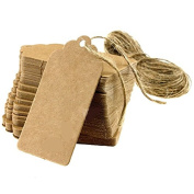 New 100 pcs Kraft Paper Gift Tags Wedding Scallop Label Blank Luggage