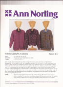 The Big Cardigan (4 Gauges) - Ann Norling Knitting Pattern #13
