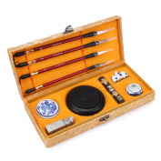 KINGSO Chinese Calligraphy Set Writing Craft Gift Kits With Case