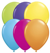Qualatex 13cm Round Balloons, Tropical Assortment - Pack of 20