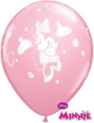 Minnie Mouse Non Message Rose Pink 28cm Qualatex Latex Balloons x 6