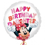 Minnie Mouse Happy Birthday Daughter 46cm Foil Balloon