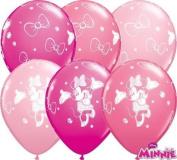 Minnie Mouse Non Message 28cm Qualatex Latex Balloons x 25